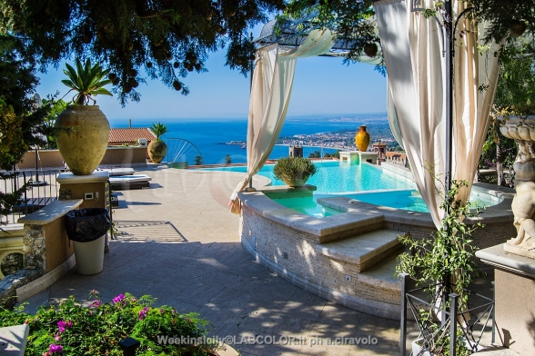 Villa Olimpia in Taormina Center, with breathtaking panoramas