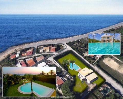 Villa Fronte Mare Baia Saracena Marsala  10/12 Ospiti  5 Camere  5 Bagni
